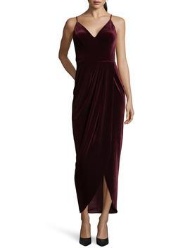 Velvet Tulip Hem Gown by Xscape