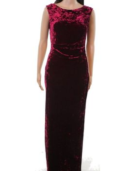 Vince Camuto Wine Red Women's Size 6 Velvet Cowl Back Gown Dress #528 by Vince Camuto