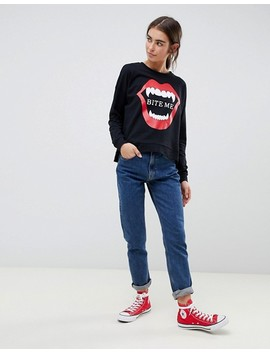 Only Halloween Bite Me Sweatshirt by Only