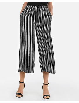 Mid Rise Pull On Cropped Pant by Express