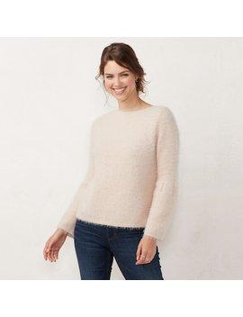 Women's Lc Lauren Conrad Fuzzy Bell Sleeve Sweater by Kohl's