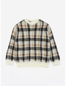 Misha Sweater   Brown Check by Cmmn Swdn