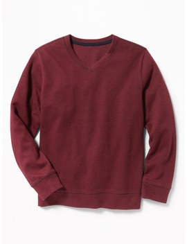 French Rib V Neck Sweater For Boys by Old Navy