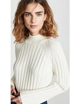 Wide Rib Turtleneck Sweater by Bop Basics