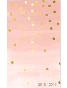 "2018   2019: Two Year Monthly Pocket Planner: 24 Month Calendar , Notes And  Phone Book,  U.S. Holidays, Size : 4.0"" X 6.5"", Hand Lettering Book ( Gold And Pink  ) by Amazon"