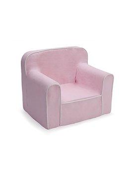 Delta Children Foam Snuggle Chair, Pink With White by Delta Children