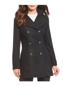 Double Breasted Classic Peacoat With Removable Hood by Preston & York