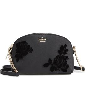 Cameron Street   Hilli Flocked Roses Leather Crossbody Bag by Kate Spade New York