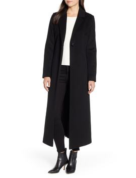 Wool Blend Maxi Reefer Coat by Sam Edelman
