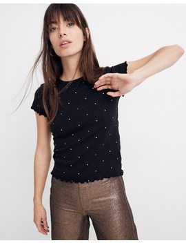 Baby Tee In Metallic Dot by Madewell