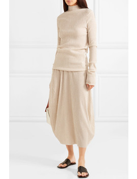 Checked Crepon Midi Skirt by Jil Sander