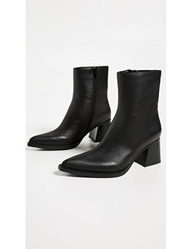 Hinge Block Heel Booties by Jeffrey Campbell