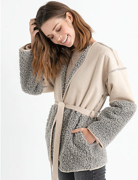 Mixed Sherpa Jacket by Lucky Brand