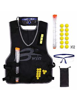 Tactical Vest Kit Nerf Rival +12 Darts + 12 Darts Quick Reload Clip + Face Tube Mask + Protective Glasses Nerf Rival Apollo Zeus Khaos Atlas Blasters by Dilimi