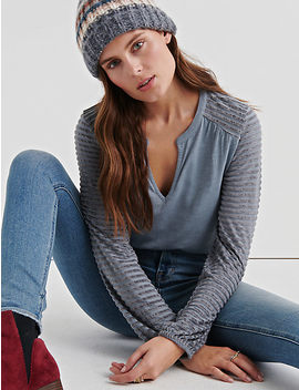 Chenille Stripe Mix Top by Lucky Brand