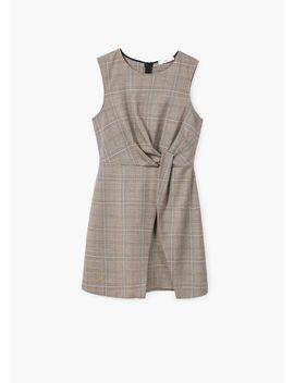 Kleid Mit Hahnentrittmuster by Mango