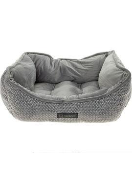 Grey & White Pet Bed 60x48cm by Nandog Pet Gear