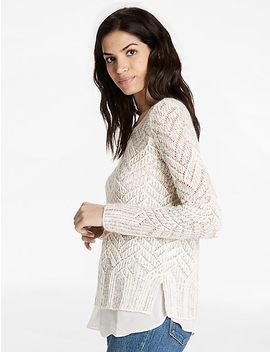 Chevron Metallic Sweater by Lucky Brand
