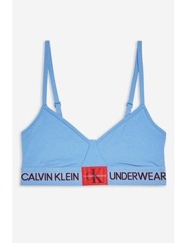 Blue Triangle Bra By Calvin Klein by Topshop