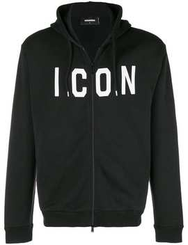 Icon Slogan Hoodie by Dsquared2