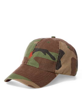 Camo Cotton Chino Cap by Ralph Lauren