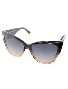 Tom Ford Anoushka Womens Tf 371 20 B Melange Grey Peach Plastic Cat by Tom Ford