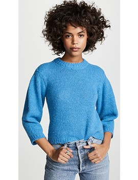 Cropped Alpaca Pullover by Tibi