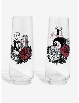 The Nightmare Before Christmas 25th Anniversary Roses Tall Glass Set by Hot Topic