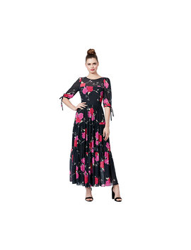Floral Tiered Maxi Dress by Betsey Johnson