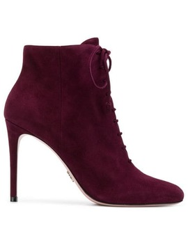 Lace Up Ankle Boots by Prada