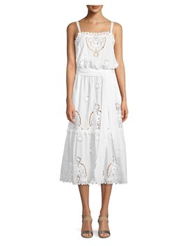 Esme Versailles Eyelet Midi Dress by Miguelina