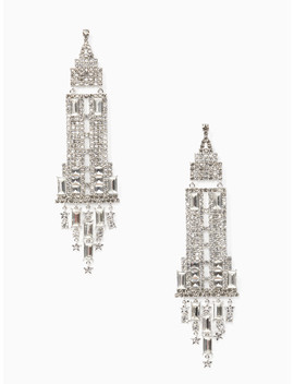 Dashing Beauty Empire State Earrings by Kate Spade