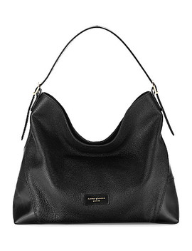 Pebble Leather Hobo Bag by Aspinal Of London
