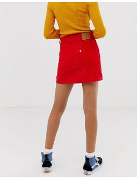 Levi's Cord Mini Skirt In Red by Levi's