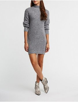 Mock Neck Tunic Sweater by Charlotte Russe