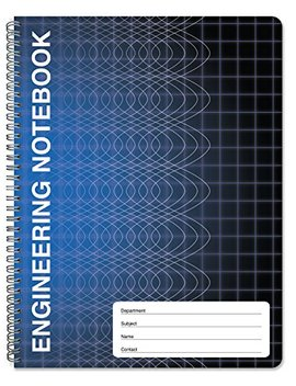 "Book Factory Computation Engineering Notebook   100 Pages (9 1/4"" X 11 3/4"")   Scientific Grid Pages, Durable Translucent Cover, Wire O Binding (Comp 100 Cwg A (Engineering)) by Book Factory"