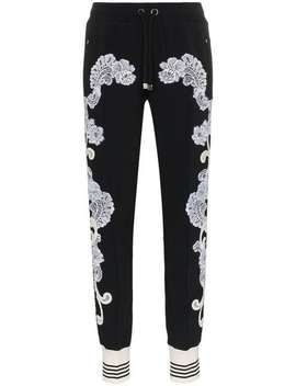Lace Embellished Track Pants by Dolce & Gabbana