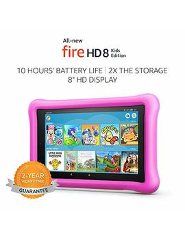 """All New Fire Hd 8 Kids Edition Tablet, 8"""" Hd Display, 32 Gb, Pink Kid Proof Case by Amazon"""