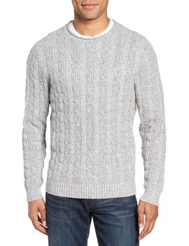 Cable Knit Crewneck Sweater by Nordstrom Men's Shop