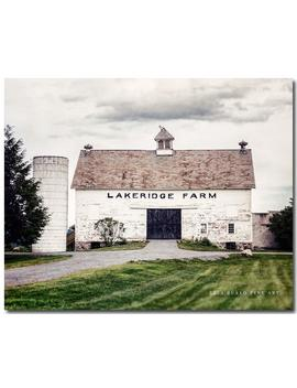 Fixer Upper Style Wall Art Rustic Country Decor Photo Of Old White Lakeridge Barn by Amazon