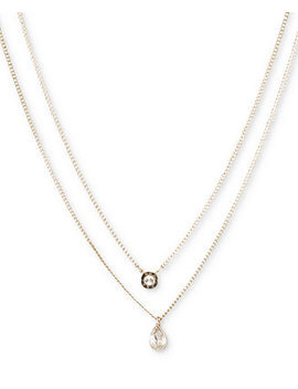 """Double Row Pendant Necklace, 16"""" Long + 3"""" Extender, Created For Macy's by Dkny"""