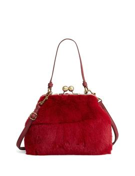 Faux Fur Oversize Coin Bag by Leith