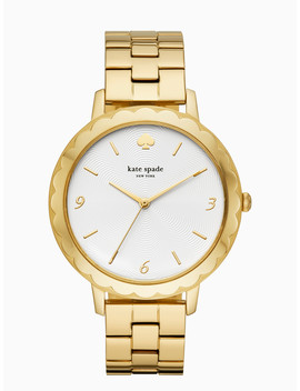 Metro Scallop Gold Tone Bracelet Watch by Kate Spade