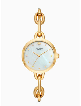 Gold Tone Chain Link Bracelet Watch by Kate Spade