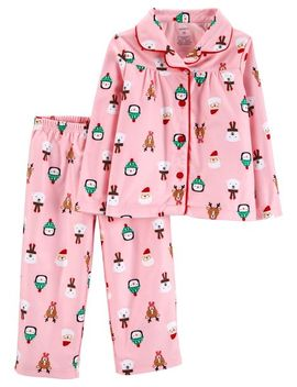 2 Piece Toddler Christmas Coat Style Fleece P Js by Carter's