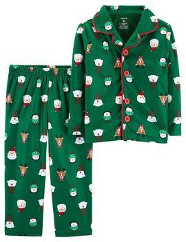 2 Piece Toddler Christmas Lightweight Fleece P Js by Carter's