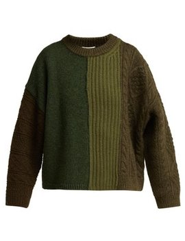 Patchwork Wool Sweater by Acne Studios