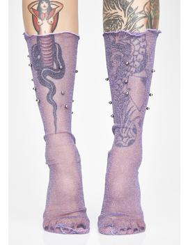 Waiting On The Night Mesh Socks by Impulse Fashion Accessories