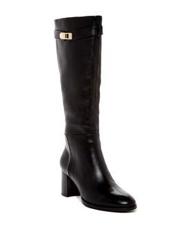 Ava Tall Buckled Leather Boot by Halston Heritage