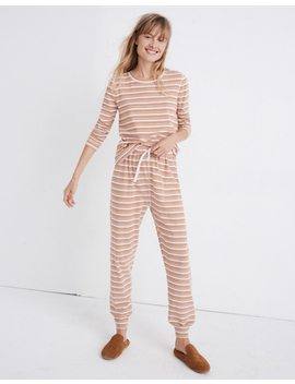 Honeycomb Pajama Sweatpants In Kasson Stripe by Madewell